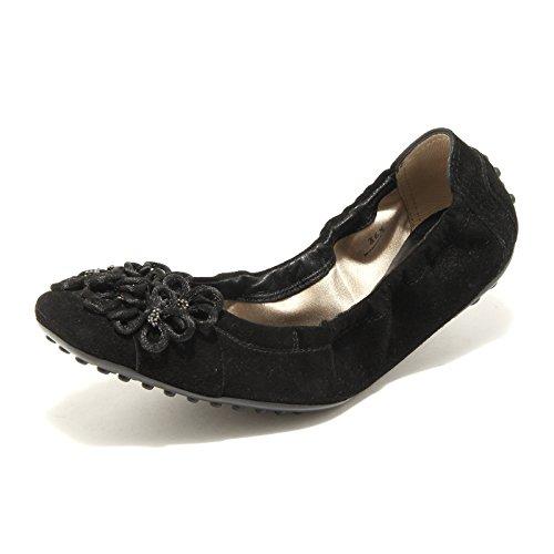 Women Shoes Nera Scarpa Nero Ballerina Tod's Donna Fiori 49187 nSaqAFwpx