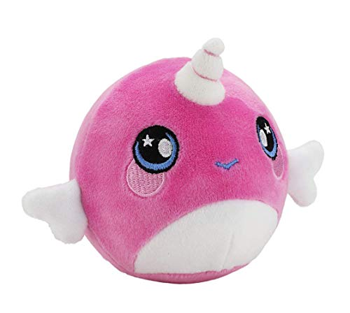 Squeezamals, Narcissa Narwhal - 3.5 Super-Squishy Foam Stuffed Animal! Squishy, Squeezable, Cute, Soft, Adorable!