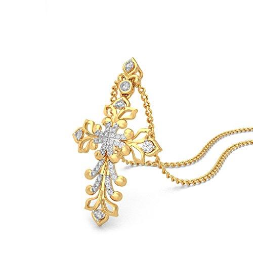 Or jaune 18K 0.25CT TW Round-cut-diamond (IJ | SI) Pendentif