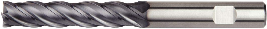 4-Flute Carbide TiAlN Coating Weldon Shank WIDIA Hanita 472716006LW VariMill I 4727 HP End Mill RH Cut 16 mm Cutting Diameter 16 mm Shank Diameter