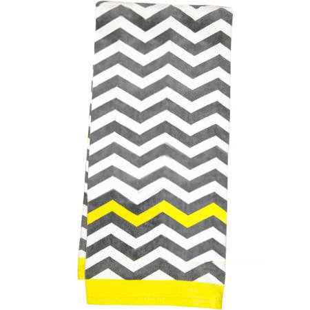 Mainstays Chevron Bath Towel, Yellow