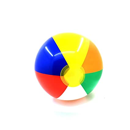 Amazon.com: Bola hinchable de 9.1 in de color para playa ...