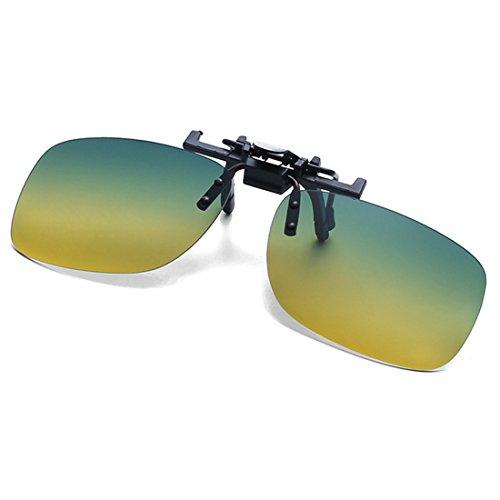 plein Polarized soleil sur de Léger Verres Sports Clip Lunettes Vert Jour Nuit et air Pêche Rectangle Conduite Jaunissement de Unisexe Lunettes Huicai qxECZwv