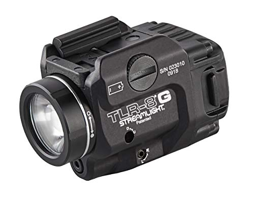 (Streamlight 69430 TLR-8G with Rail Locating Keys & CR123A Lithium Battery - 500 Lumens)