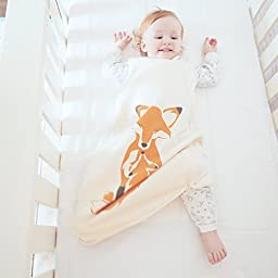 Wee Urban Cozy Basics 4 Season Baby Sleeping Bag, Natural Fox, Med 6-18m