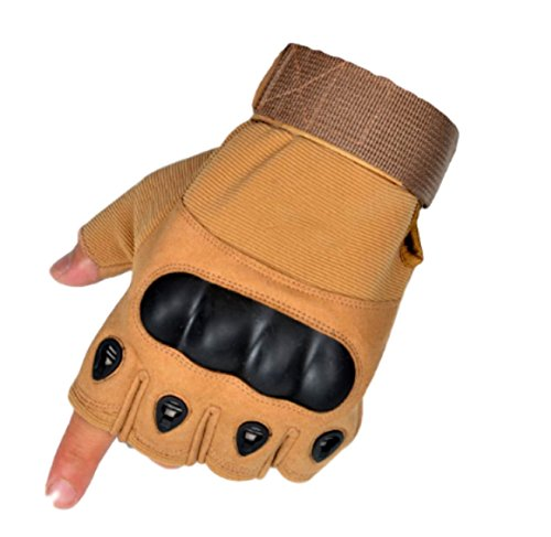 Moon Market Tactical Military Knuckle Half Finger Gloves for Motorcycle Army Combat by Moon Market