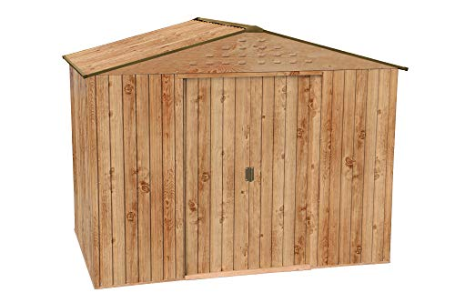 Caseta metálica Artemisa de Duramax, *Imitación madera de máxima calidad.: Amazon.es: Jardín