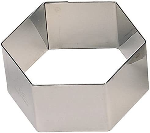 Paderno World Cuisine Pack of 6 Drop-Shaped Stainless Steel Pastry Rings 3-1//2-Inch