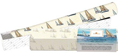 Papier parfumée pour tiroirs Cardamome–Lot 5feuilles cm.45x 61- Papier écologique LA DISPENSA