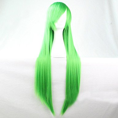 80's Tina Turner Costume (Beauty Fashion Wigs liap The New Cartoon Green Long Straight Brown Hair Wig 80CM)
