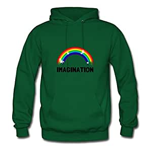Customizable Unofficial Imagination_rainbow Cool Hoodies In Green Women Cotton X-large