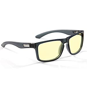 Gunnar Optiks Intercept Computer gaming glasses - block blue light, Anti-glare and minimize digital eye strain - Perform better, target objects on screen easier, prevent headaches, sleep better, reduce eye fatigue