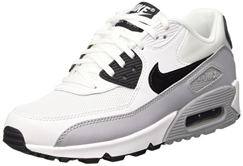 Nike Women's Air Max 90 Essential White/Grey/Black 616730-111 (Size: 8.5)