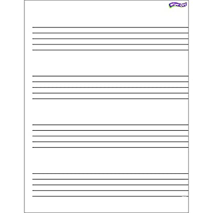 trend enterprises inc music staff paper wipe off chart 17