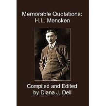 Memorable Quotations: H.L. Mencken