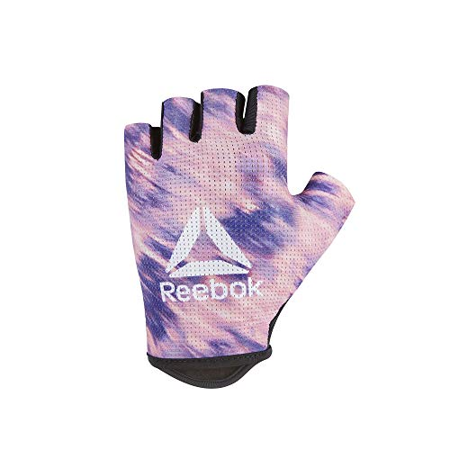 Reebok Women\'s Weight Lifting Workout Gloves High Performance with Natural Grip, Pink/Purple, Size Medium'