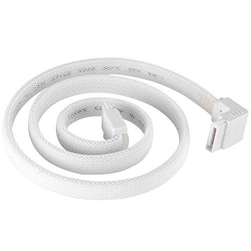 SilverStone 90 degree SATA III with Locking Mechanism, White (RL-CP08W)