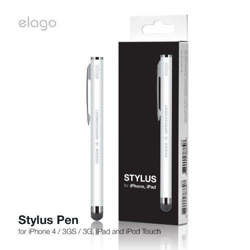 Elago Stylus [Clip][White]   [Reliable][Simple Design]