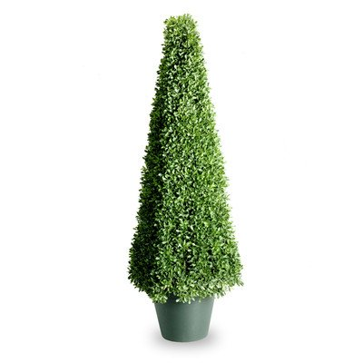 National Tree 48 Inch Mini Boxwood Square Plant in Green Pot (LBXM4-704-48-1) by National Tree Company