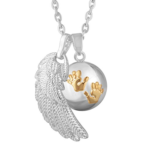 Eudora Harmony Bola Gold Baby Hands Women Pendant Necklace Musical Chime 30 Inches Long