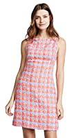 Zac Posen Women's Tweed Dress, Multi Lavender, 10