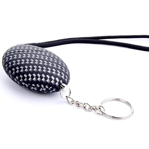 Emergency Personal Security Alarm keychain,iDaye 120DB Imitation carbon fiber Mosaic Safety Guard Supplies,Self-Defens Siren,Protection Device work for kids/elderlies/owls and adults,Bag (Mosaic Carbon)