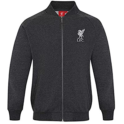 Liverpool Football Club Official Gift Mens Retro Varsity Baseball Jacket