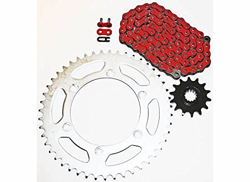 1999-2000 Suzuki RM250 RM 250 Red Non O Ring Chain And Sprocket 13//48 520-114L