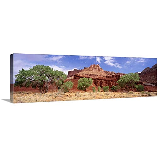 GREATBIGCANVAS Gallery-Wrapped Canvas Entitled Utah, Capital Reef National Park, The Castle by 90