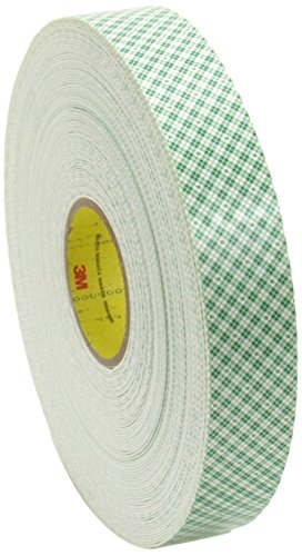 """Double Coated Urethane Foam Tape 4016 Retail Pack, 1"""" x 36 yd. 1/16"""", 0"""