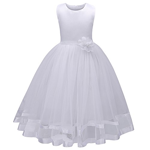 - Mary ye Little Girls' Flower Ball Gown Party Wedding Tulle Ruffle Dress