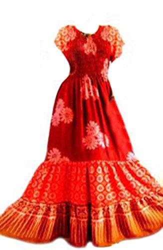 Braun amp; Para Cool Rot Kaftans Vestido Mujer Unqp4x