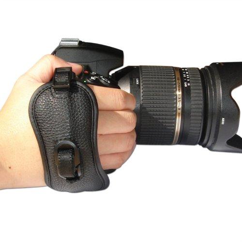 First2savvv OSH0402 Professional Wrist Grip black genuine leather hand Strap for Canon EOS 7D Mark II Canon PowerShot SX60 HS Canon EOS 7D Mark II Canon PowerShot SX60 HS panasonic LUMIX DMC-FZ70 Nikon D750 SAMSUNG NX1