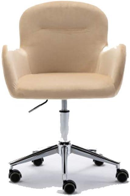 Velvet Swivel Shell Chair for Living Room,Office Chair, Modern Leisure Arm Chair Beige