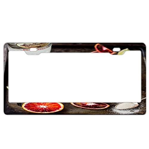 (Automotive Exterior Accessories Blood Orange Rum Strawberry License Plate Frames - Plate Car Holder Tag)