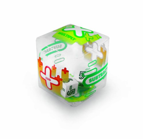 (American Educational Clear Vinyl Tumble 'N Teach Positive and Negative Integers 3 Function Math Cube, 7