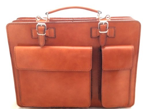 Italy Ctm Cuir Orange Bandoulière À Chicca Véritable documents Tutto 100 Documents Sac Portes Hommes Moda 38x29x11cm Made Porte In fx1Uw1Aq
