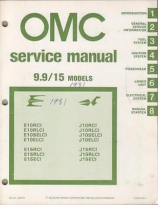 15 Hp Outboard Service Manual (1981 OMC OUTBOARD MOTOR 9.9/15 HP P/N 392071 MODELS SERVICE MANUAL (234))
