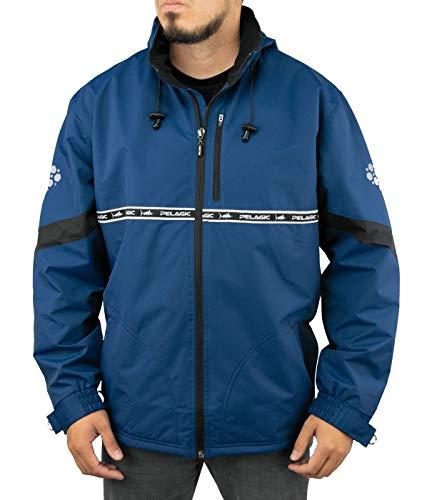 Pelagic Men's Hurricane Jacket | Waterproof Shell | Adjustable Cuffs and Waistband Navy