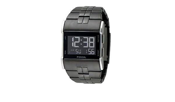 Fossil JR9710 - Reloj digital de cuarzo para hombre con correa de acero inoxidable, color negro: Fossil: Amazon.es: Relojes