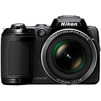 Nikon Coolpix L120 14.1MP 21X Digital Camera Black - 26253