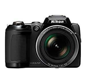 Nikon Coolpix L120 14.1MP 21X Digital Camera Black - 26253