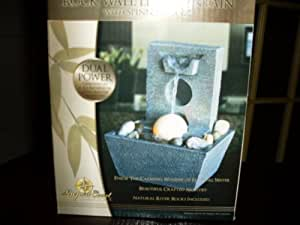Rock Wall LED Fountain with Spinning Ball
