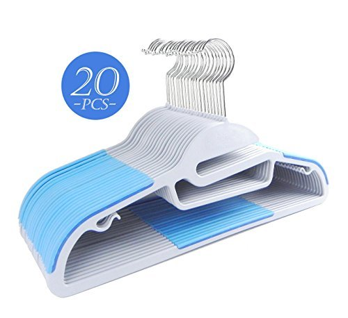 Clothes Hanger A type (White/Blue) - 3