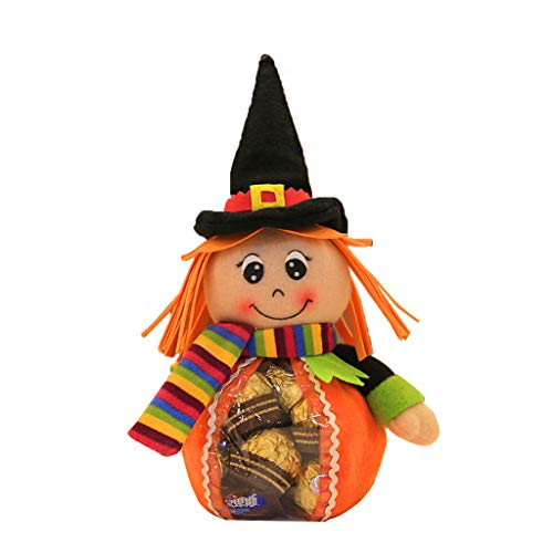 cici store Happy Halloween Witches Candy Doll for Kids Gift,Fruit Snacks Storage Bag for Party Home Desktop Decoration