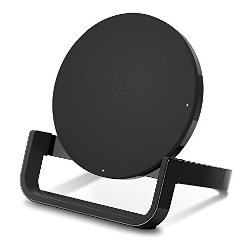 (Belkin Boost Up Wireless Charging Stand 10W - Qi Wireless Charger for iPhone Xs, XS Max, XR/Samsung Galaxy S9, S9+, Note9 / LG, Sony and More (Black))