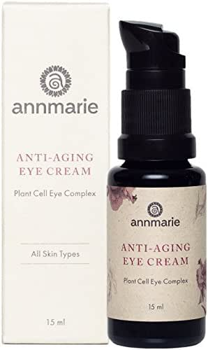 Annmarie Skin Care Anti-Aging Eye Cream - Soothing Eye Cream with Damas Rose and Sweet Iris Plant Cells, Cucumber Extract + CoQ10 (15ml / 0.5 fl oz)