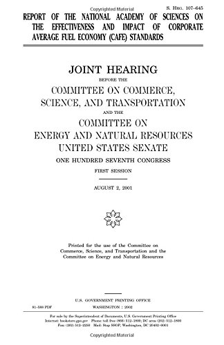 Download Report of the National Academy of Sciences on the effectiveness and impact of corporate average fuel economy (CAFE) standards pdf epub