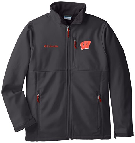 (NCAA Wisconsin Badgers Collegiate Ascender Softshell Jacket, Grill, Large)