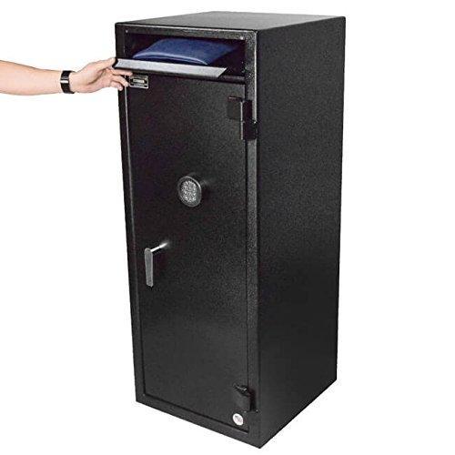 Stealth Heavy Duty Drop Safe Depository Vault BWB5020FL Cash Storage Internal Steel Locker, 2 Adjustable Shelves, Made in ()
